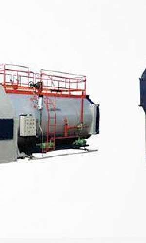 Caldeira biomassa horizontal