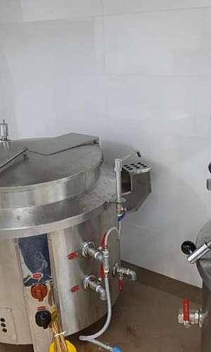 Caldeirão a gás para cozinha industrial
