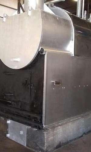 Montagem de caldeiras a pellets