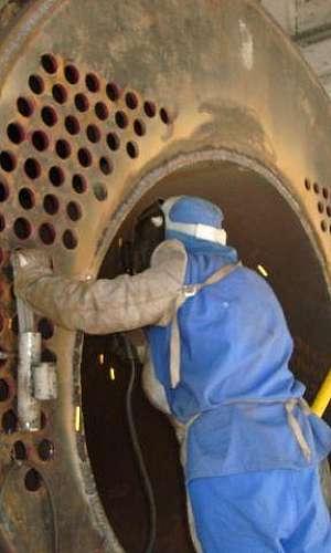 Montagem de caldeiras industriais