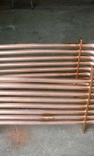 Serpentina de cobre para aquecer água